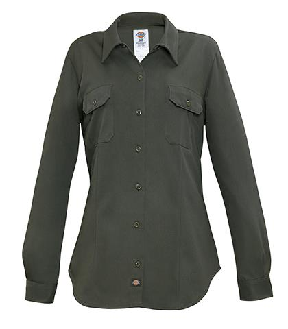 88e552612 CAMISA VERDE O. 100ALG DE GASOLINERAS PARA MUJER L-DICKIES Camisas y ...