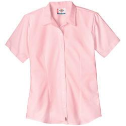 BLUSA DAMA FS010PK ROSA MC STRETCH POPLIN M-DICKIES