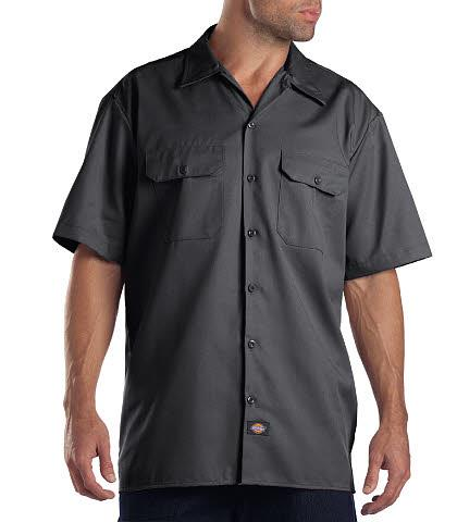 CAMISA DE TRABAJO MC 65POL/35ALG CHARCOAL 2XL-DICKIES